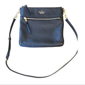Kate Spade Women's Jackson Top Zip Crossbody Black Leather Handbag NWOT